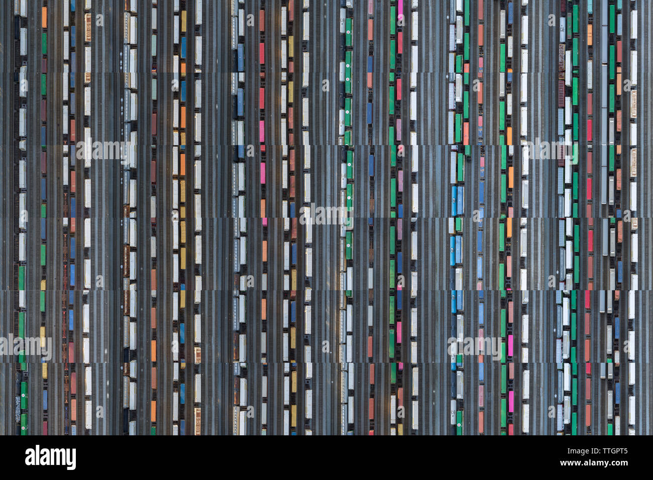 Train Yard Collage, Atlanta, Georgia - Stock Image