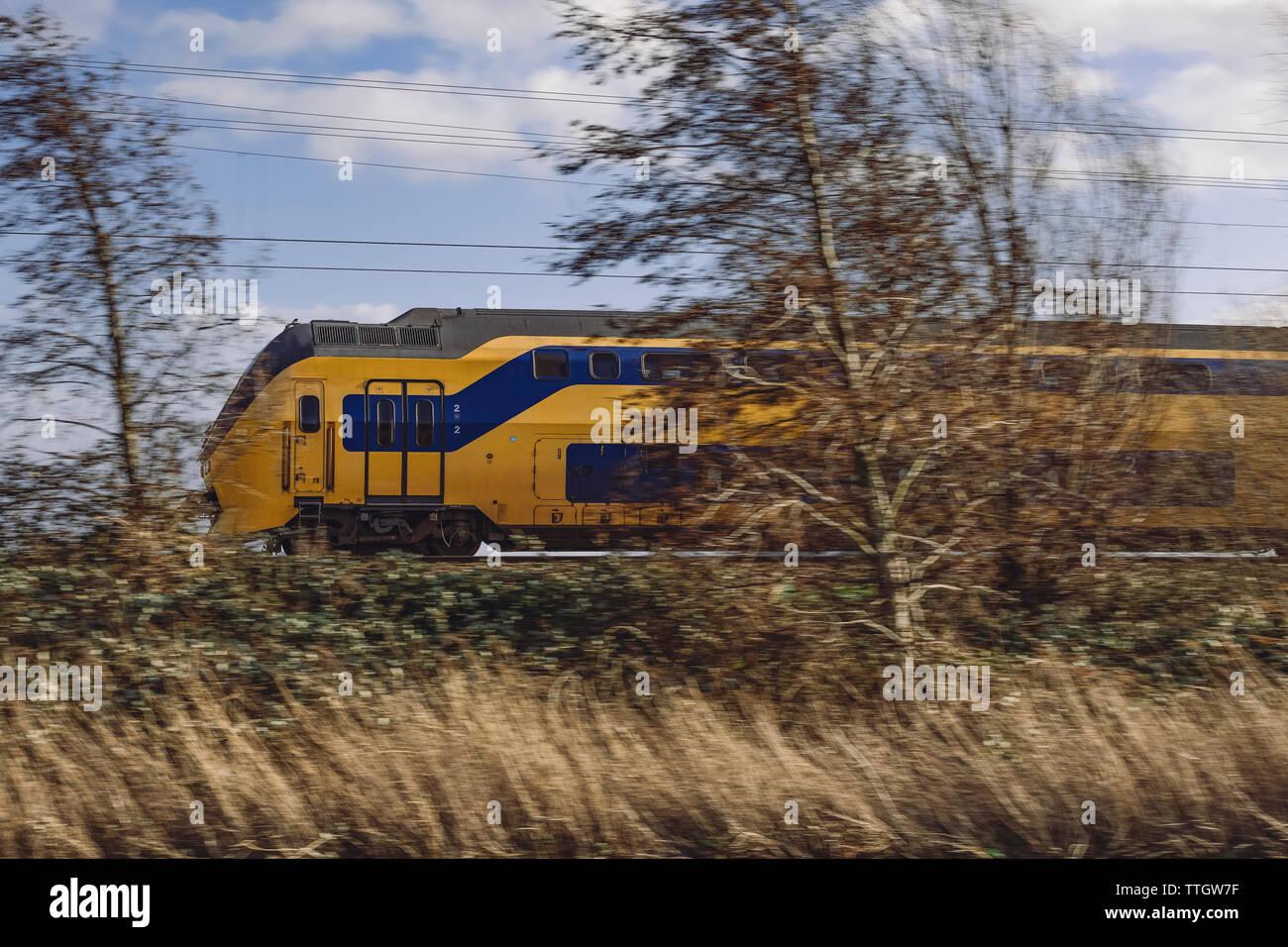 Dutch electric train Stock Photo