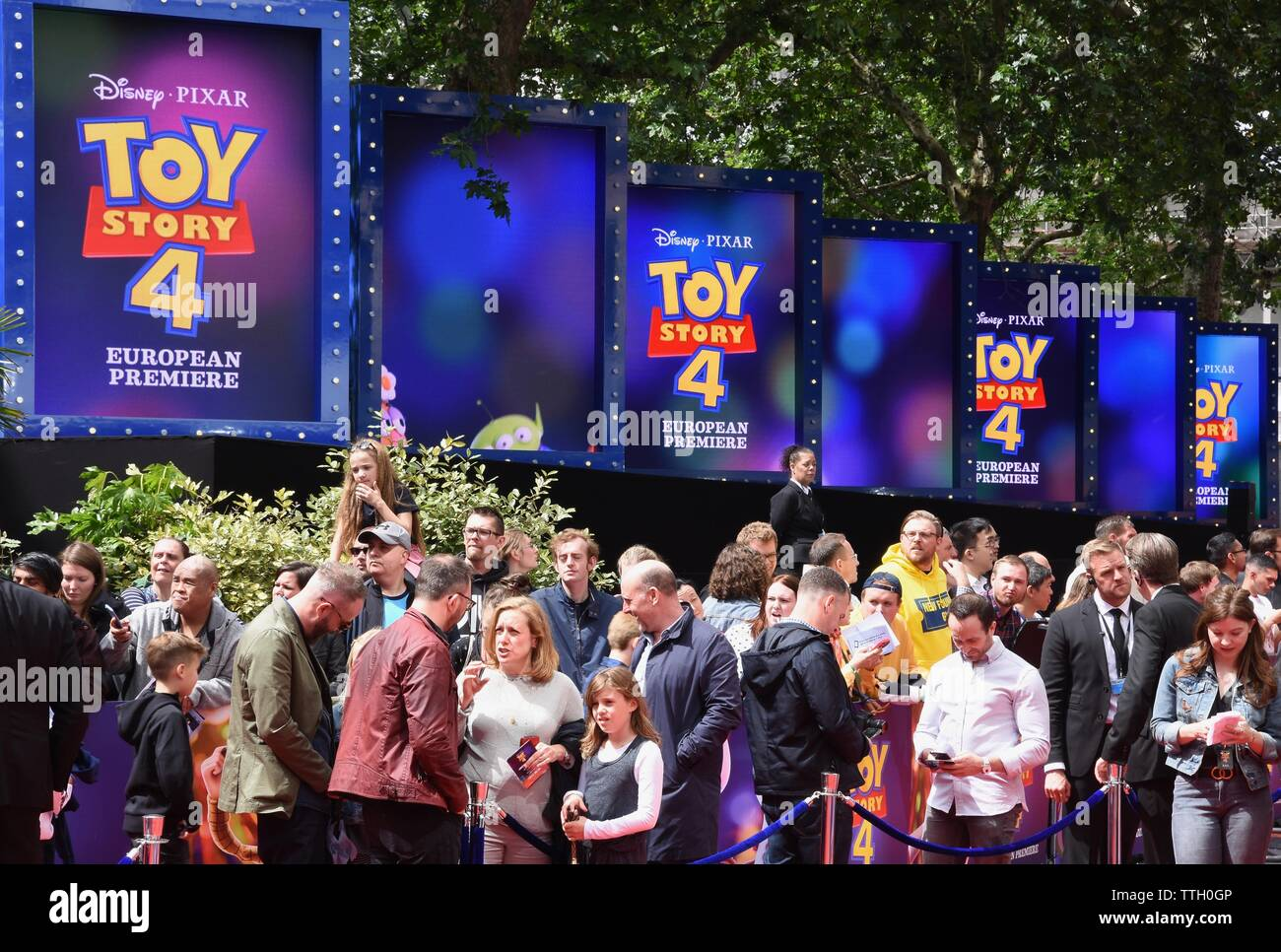 Atmosphere. Toy Story 4 European Premiere, Odeon Luxe, Leicester Square, London. UK - Stock Image