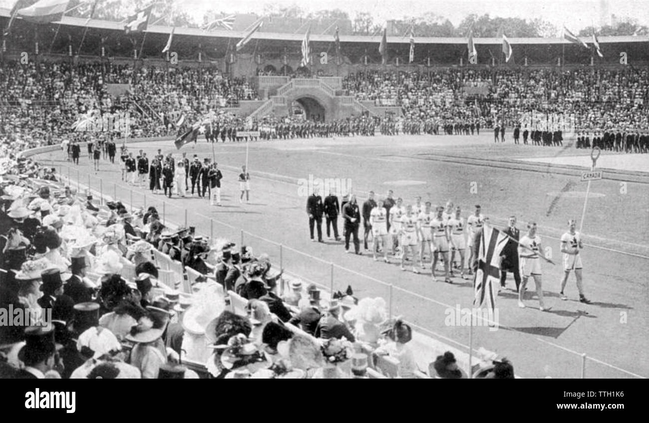 1912 SUMMER OLYMPICS opening ceremony in Stockholm - Stock Image