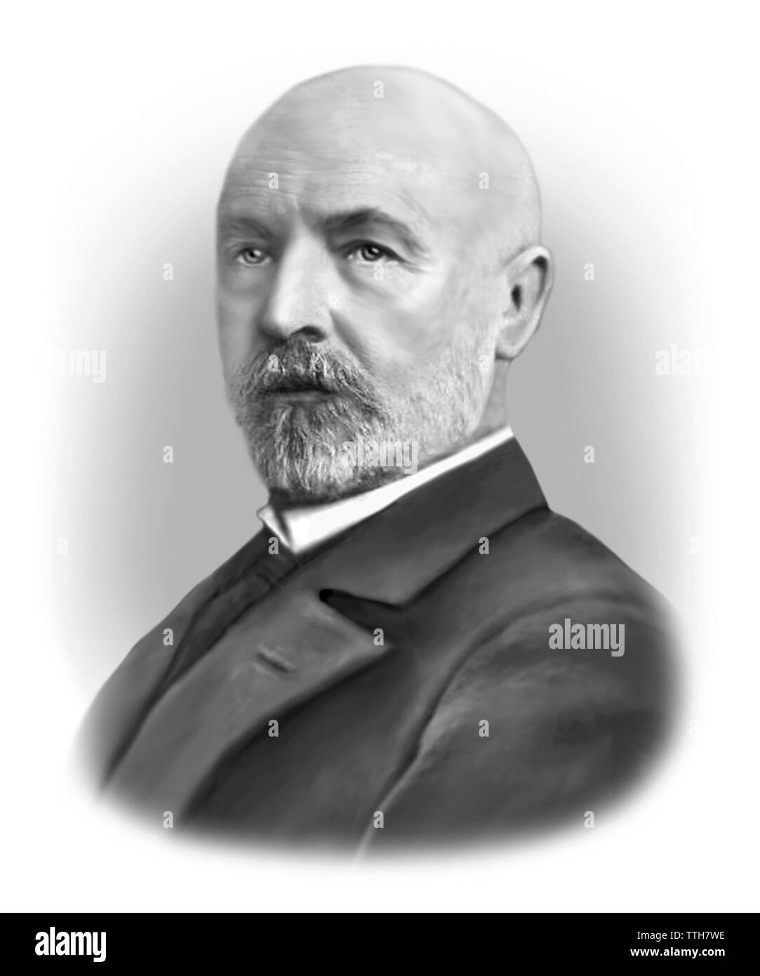 Georg Cantor 1845-1918 German Mathematician - Stock Image