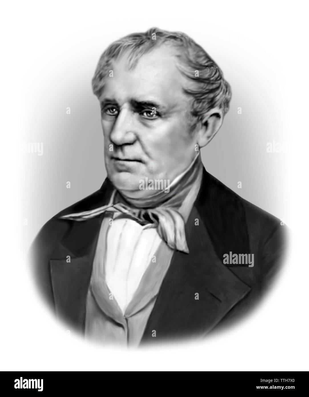 James Fennimore Cooper 1789-1851 American Writer - Stock Image