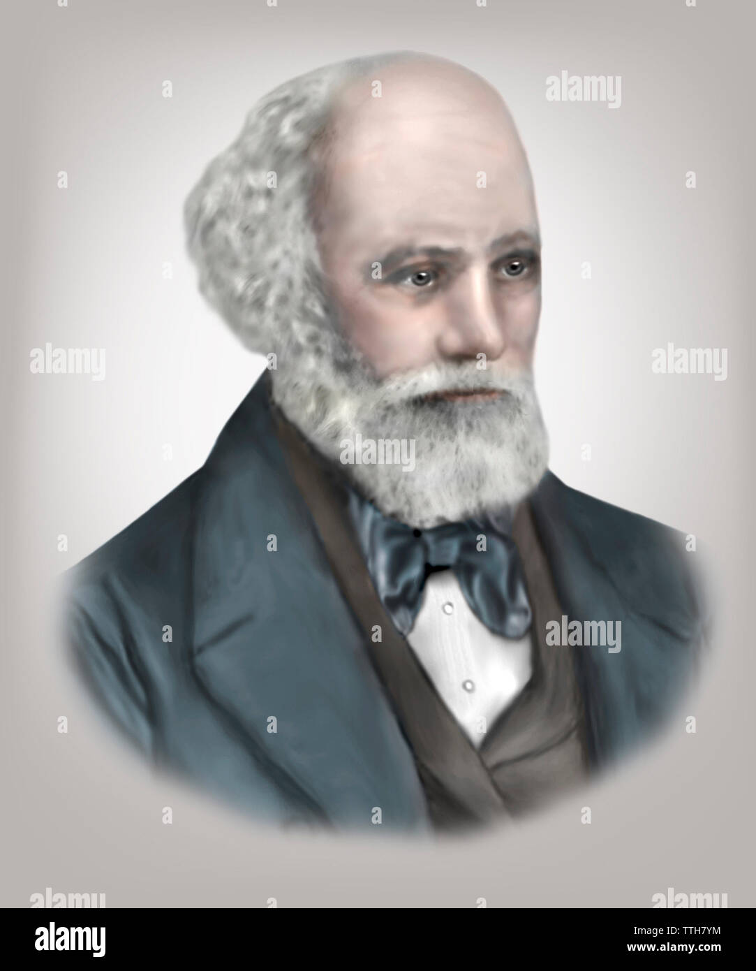 Jules Jansson 1824-1907 French Astronomer - Stock Image