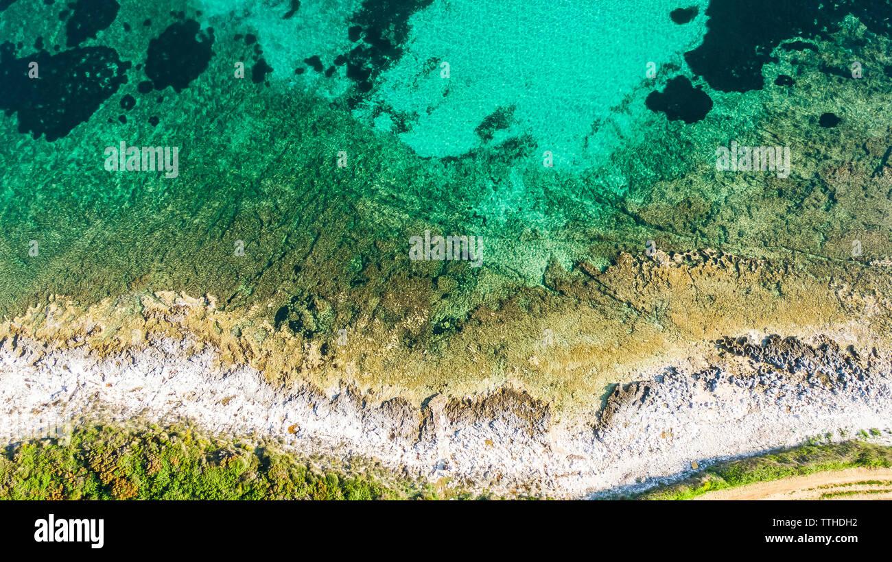 Sea coast of Marlera, Croatia - Stock Image