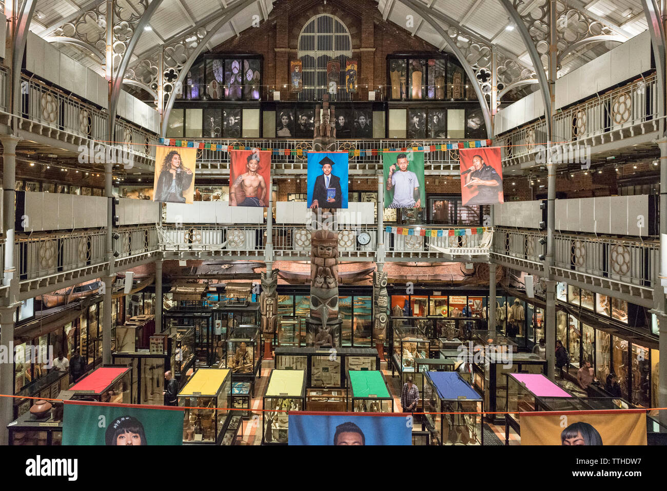 The Pitt Rivers Museum, Oxford, UK. A world famous collection of items relating tp ethnography, anthropology and archaeology, founded in 1884 - Stock Image