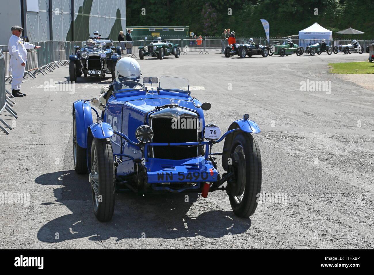 Riley Special (1933), Double Twelve Motorsport Festival 2019, Brooklands Museum, Weybridge, Surrey, England, Great Britain, UK, Europe - Stock Image