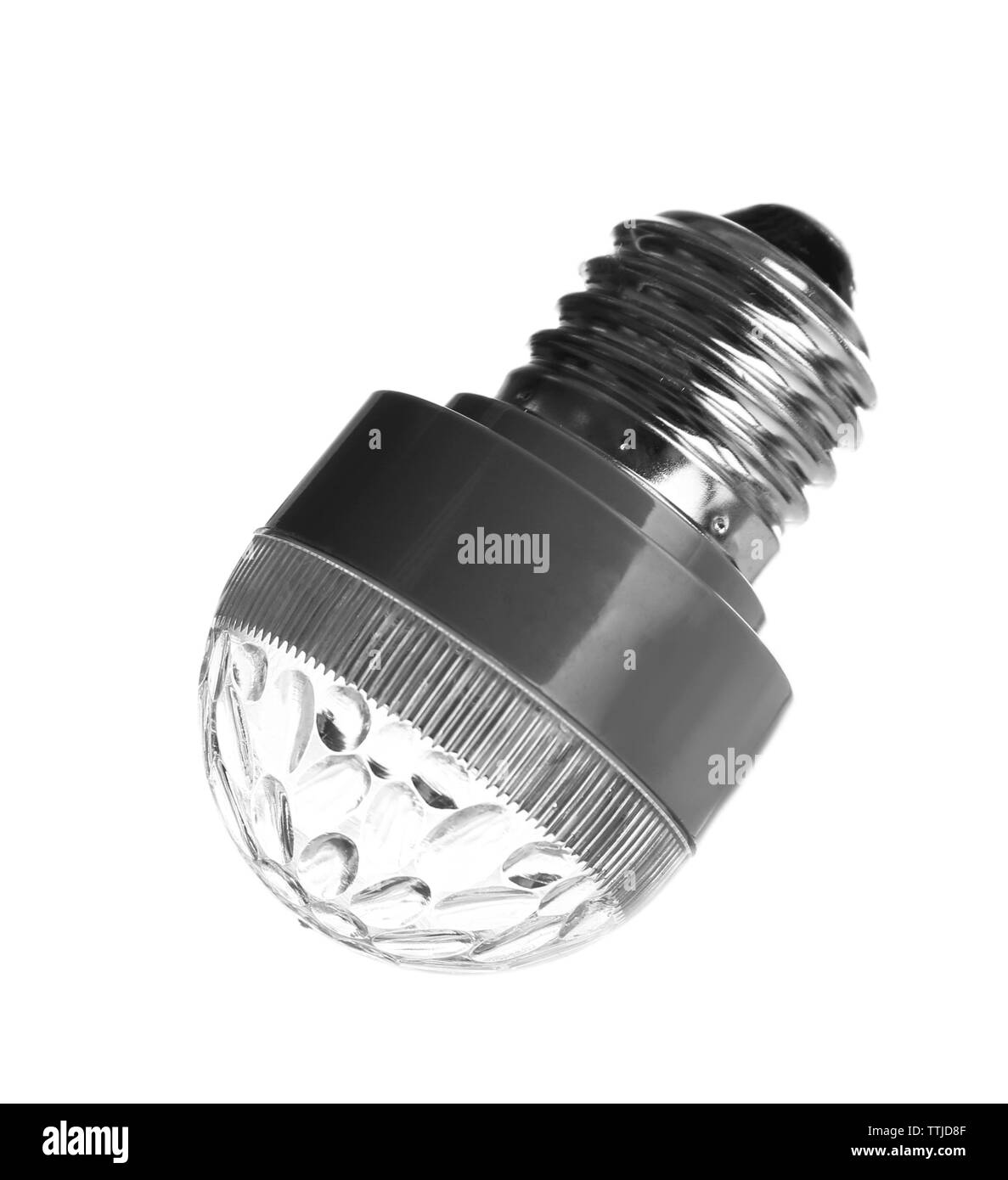 Light bulb, isolated on white - Stock Image