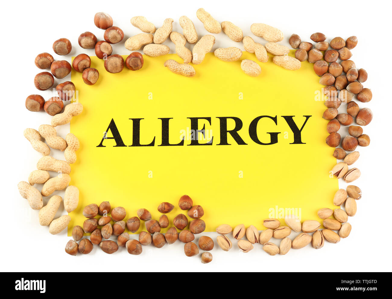 Nut allergy - Stock Image