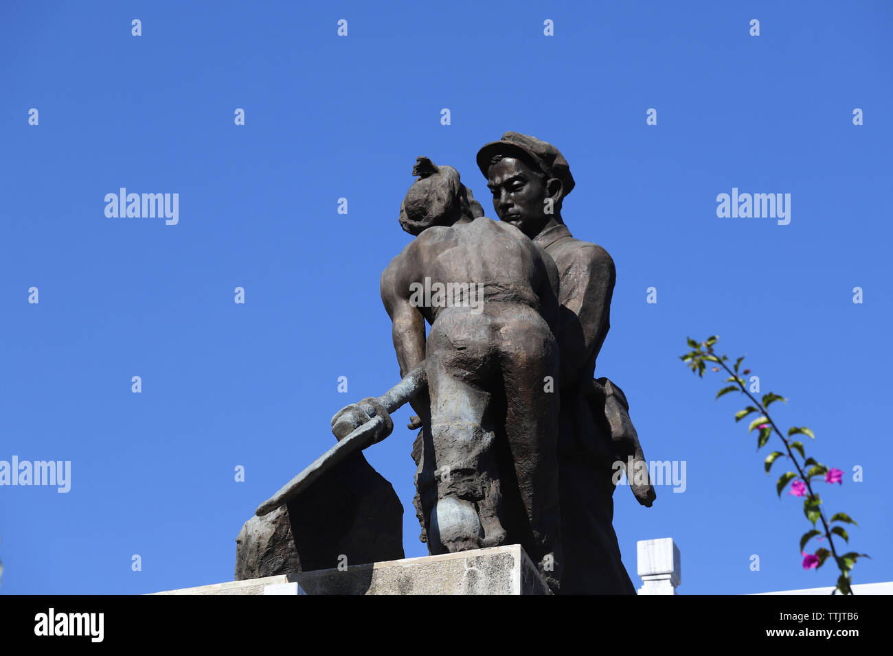The Red Army's Long March Memorial Monument in Shigu, Yunnan, China - Stock Image