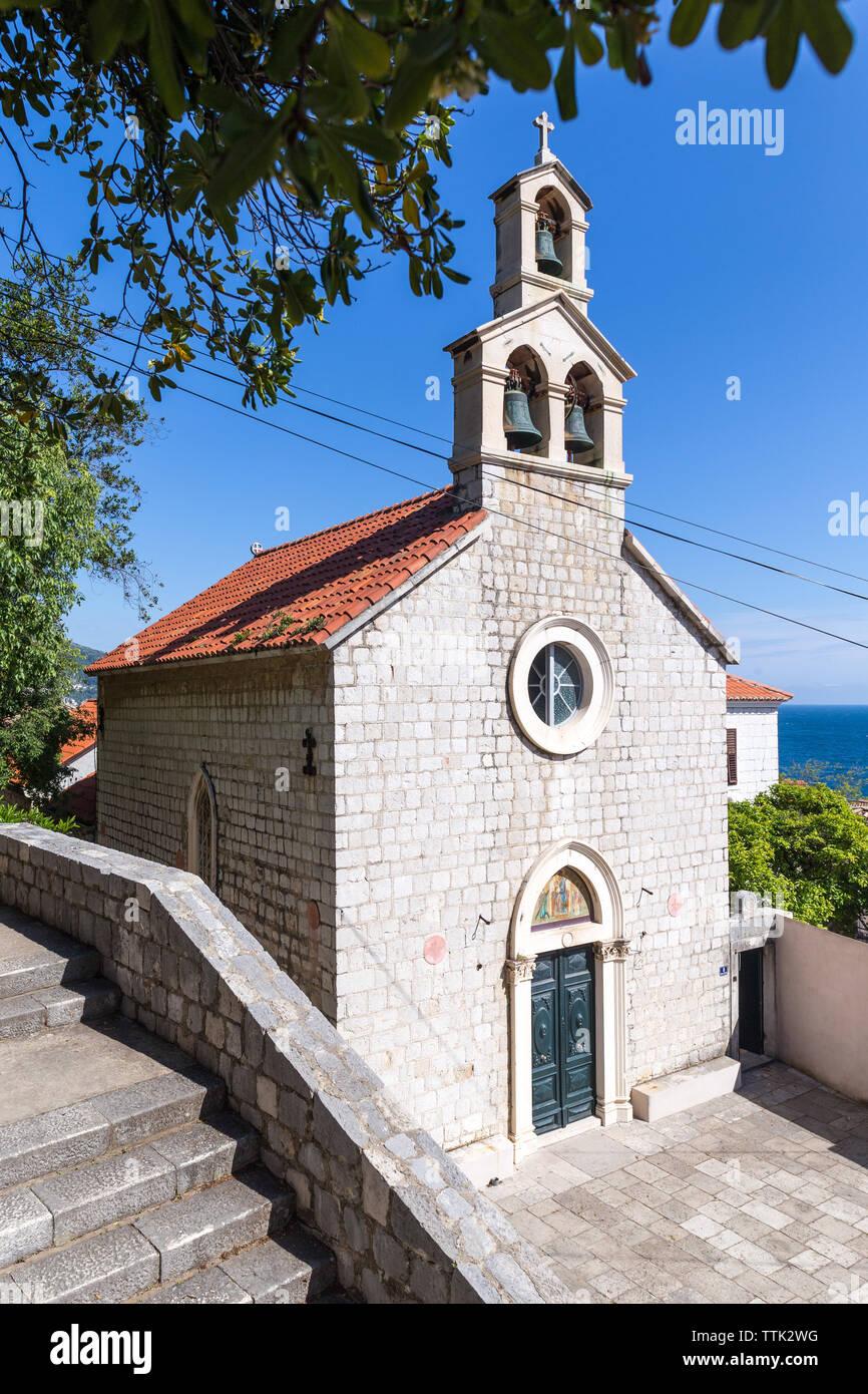 03 May 2019, Dubrovnik, Croatia. Parish Church of St Andrew - Stock Image