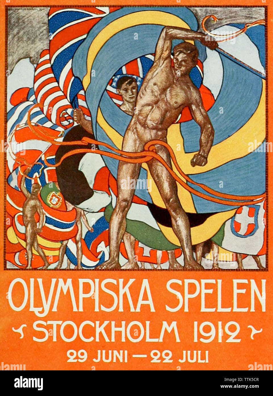 1912 SUMMER OLYMPICS held in Stockholm - Stock Image