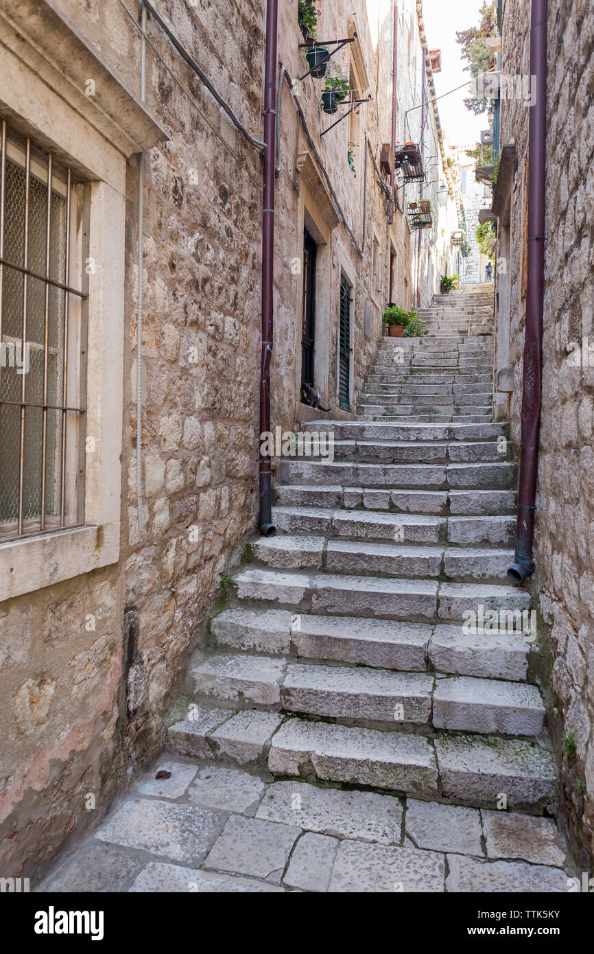 03 May 2019, Dubrovnik, Croatia. Old city architecture - Stock Image