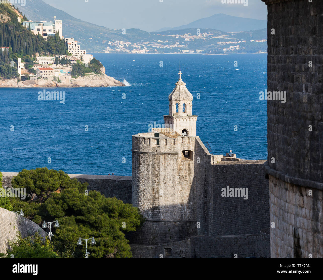 03 May 2019, Dubrovnik, Croatia. Old city architecture. - Stock Image