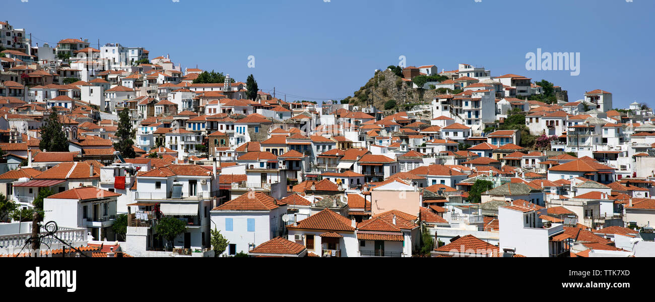 Skopelos Town, Northern Sporades Greece - Stock Image