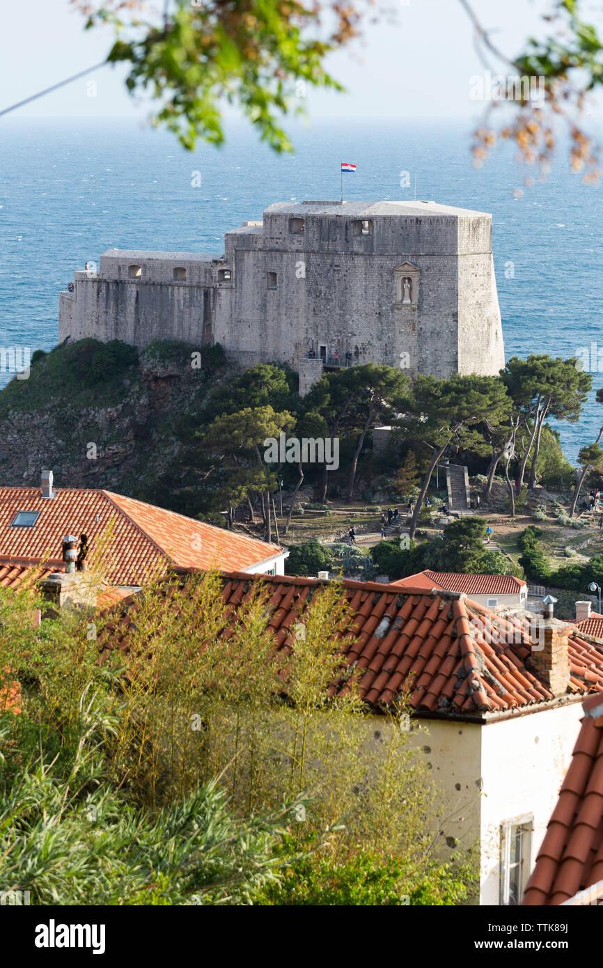 03 May 2019, Dubrovnik, Croatia. Old city port. Lovrijenac. - Stock Image