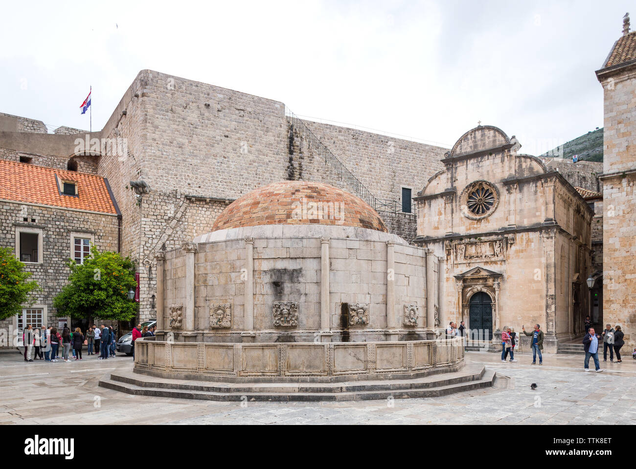 03 May 2019, Dubrovnik, Croatia. Old city architecture. Onofrio's Fountains - Stock Image