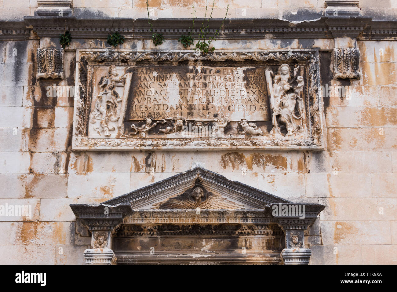 04  May 2019, Dubrovnik, Croatia. Old city architecture. Detail - Stock Image