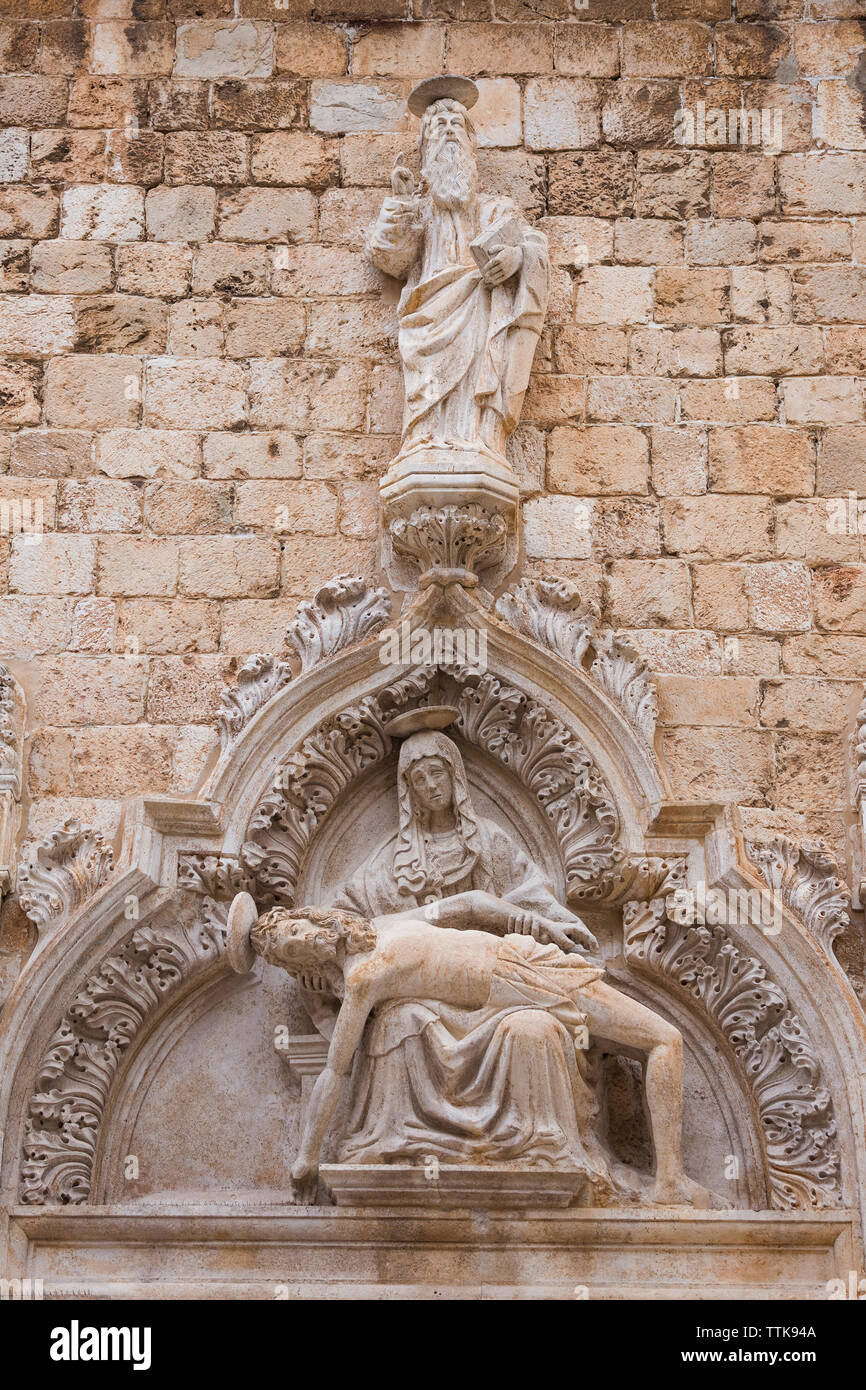 04  May 2019, Dubrovnik, Croatia. Old city architecture, detail - Stock Image