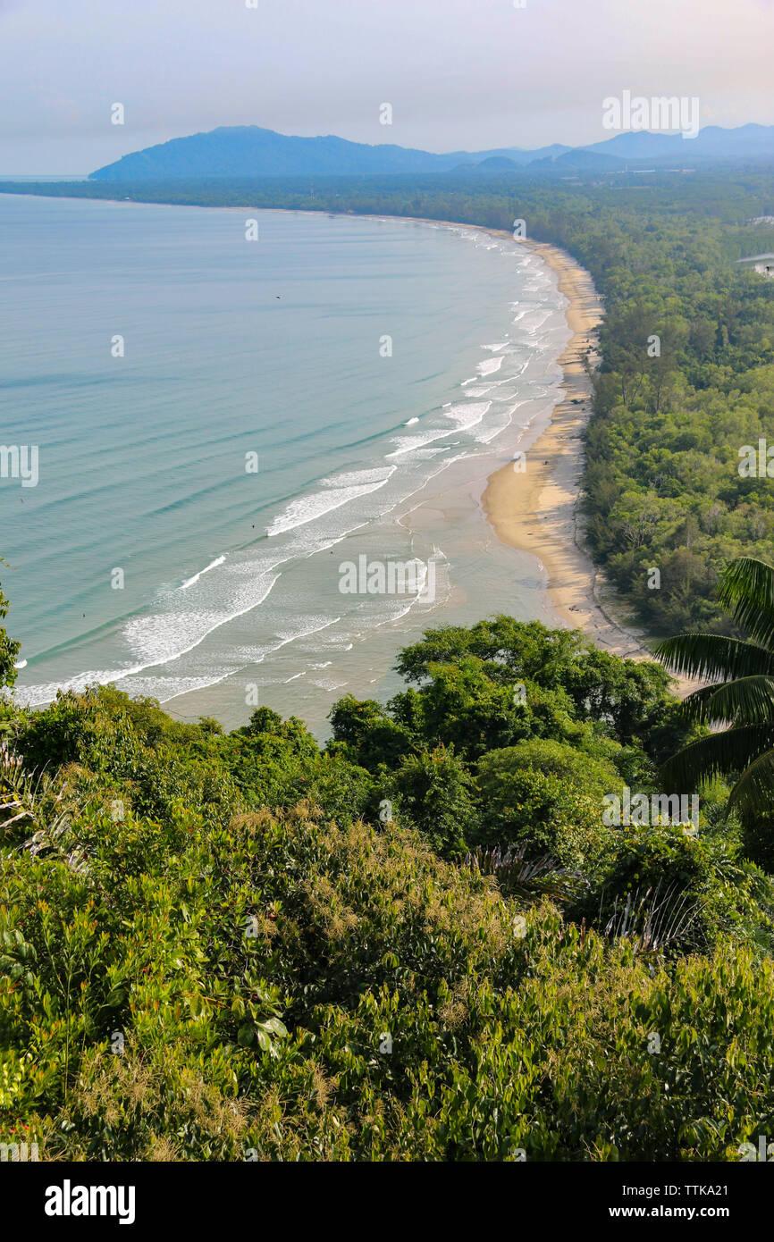 Beautiful view of Sabandar Beach from Rasa Ria, Kota Kinabalu, Sabah, Malaysia - Stock Image