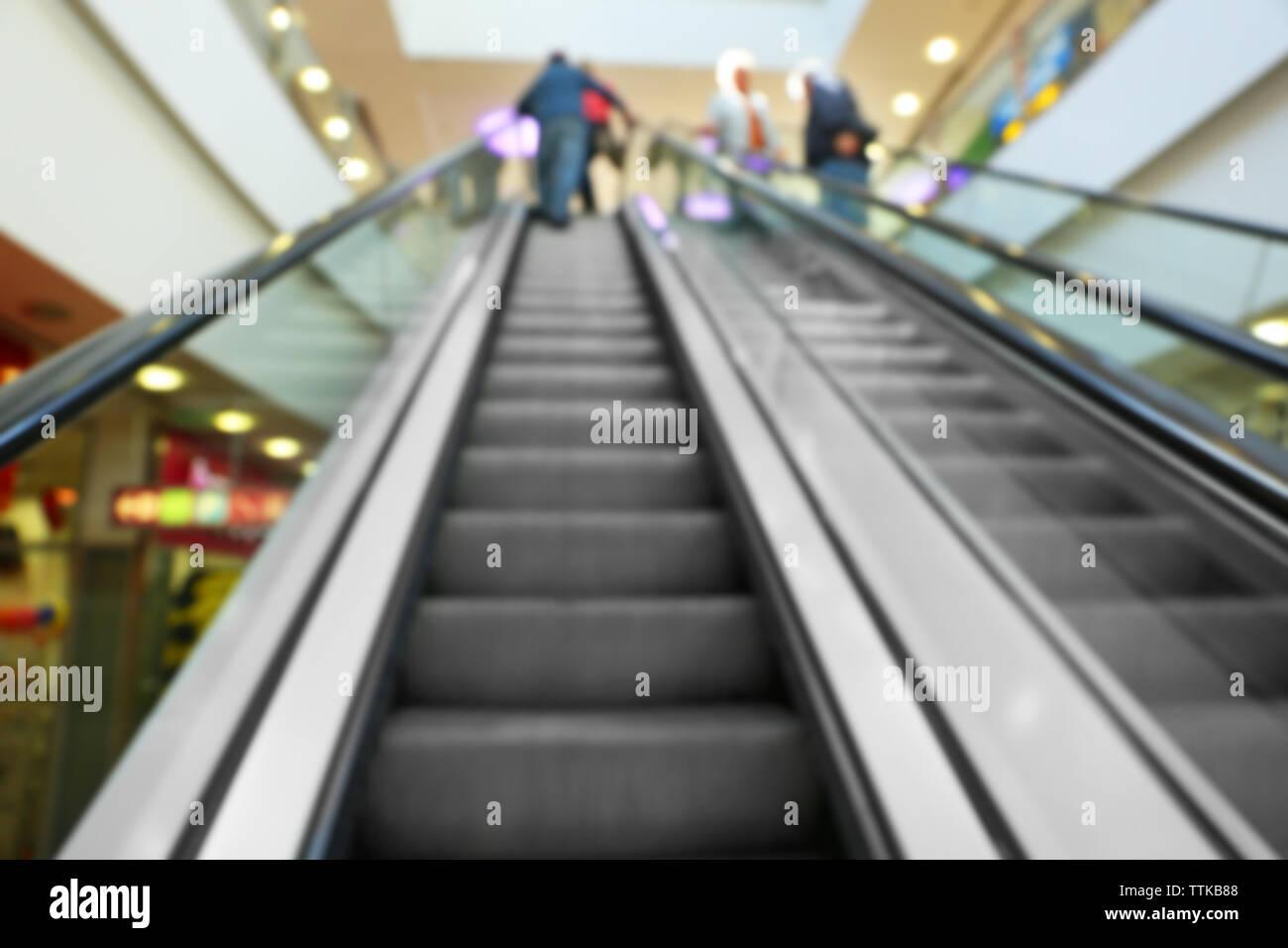 Modern escalator in the shopping mall Stock Photo