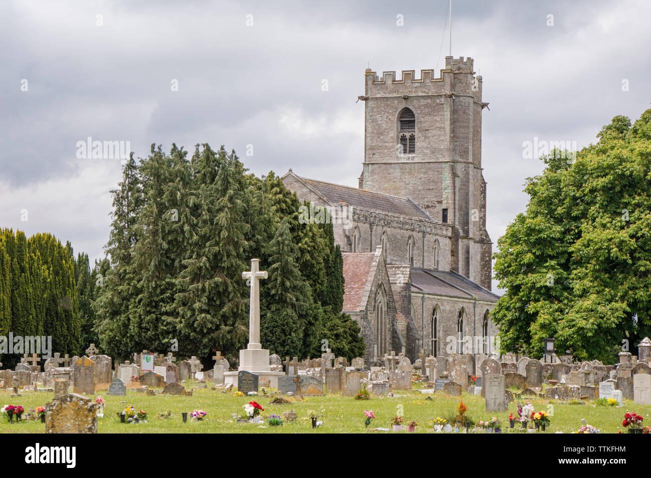 Lady St. Mary Church in historic Wareham, Dorset, England, UK - Stock Image