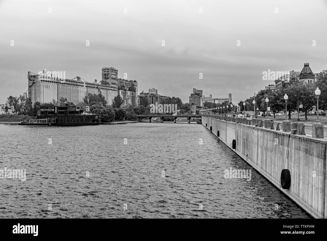Views of Old Montreal Granaries. - Stock Image