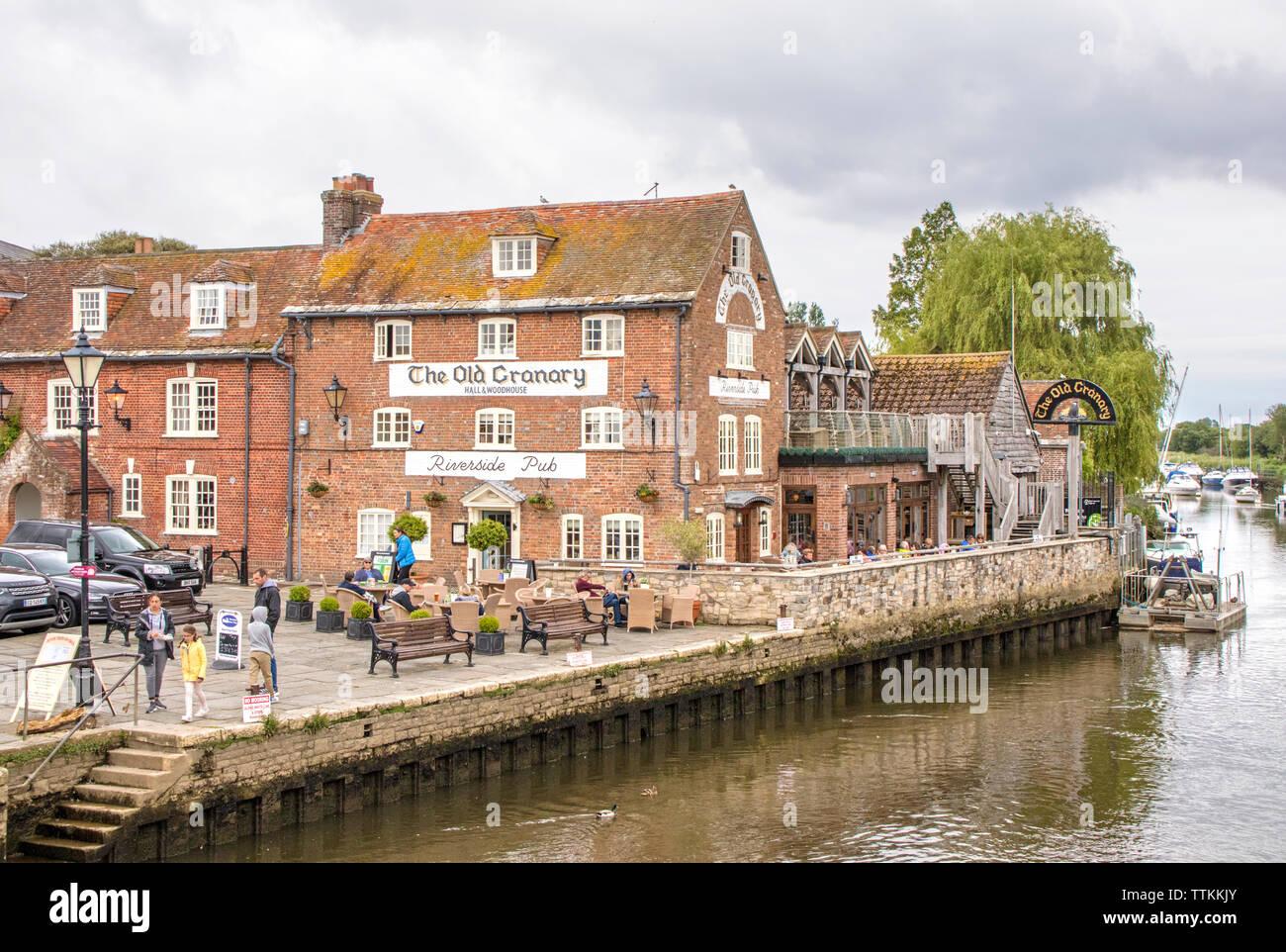 Wareham Quay in Historic Wareham, Dorset, England, UK - Stock Image