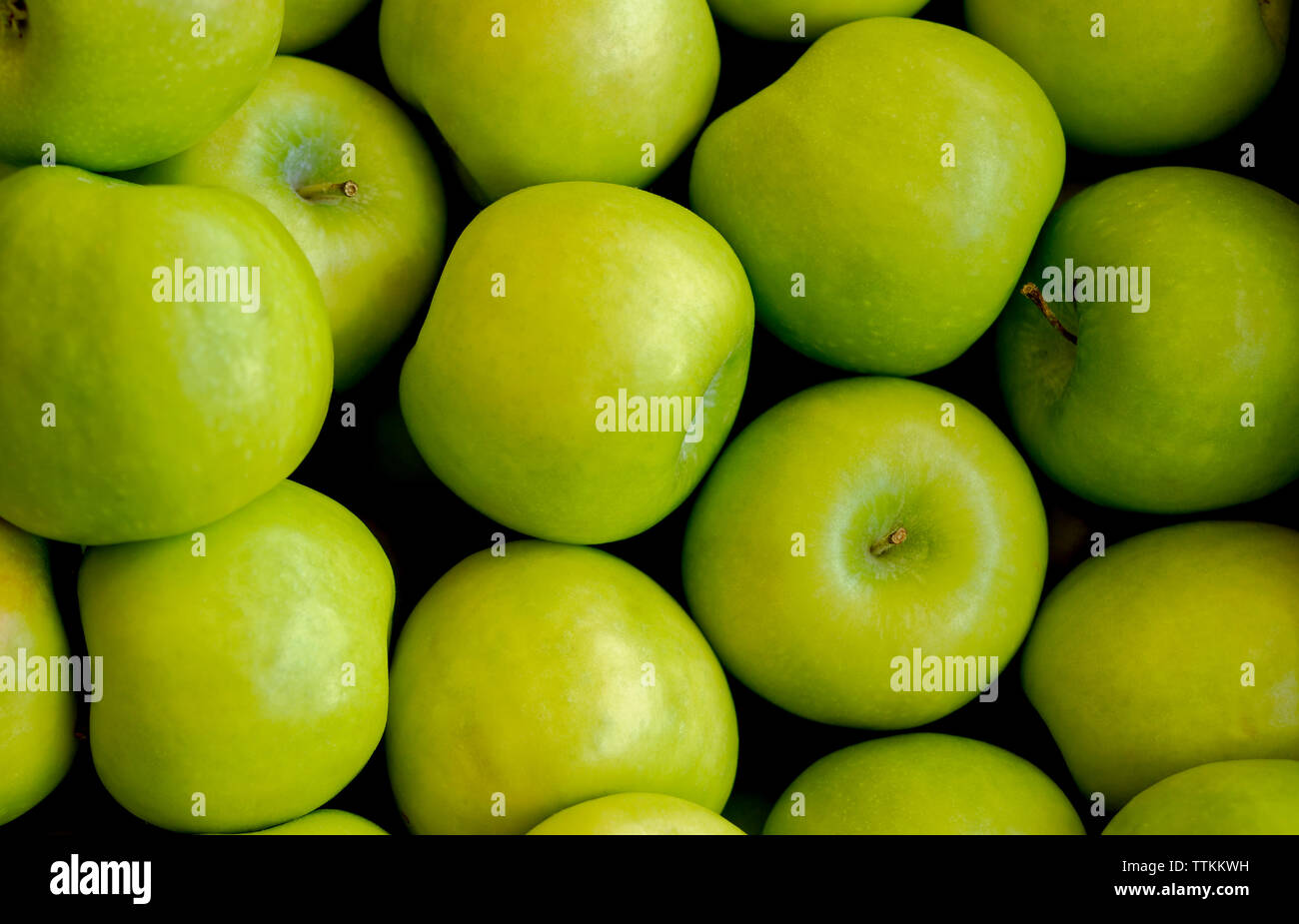 Granny Smith green apples - Stock Image