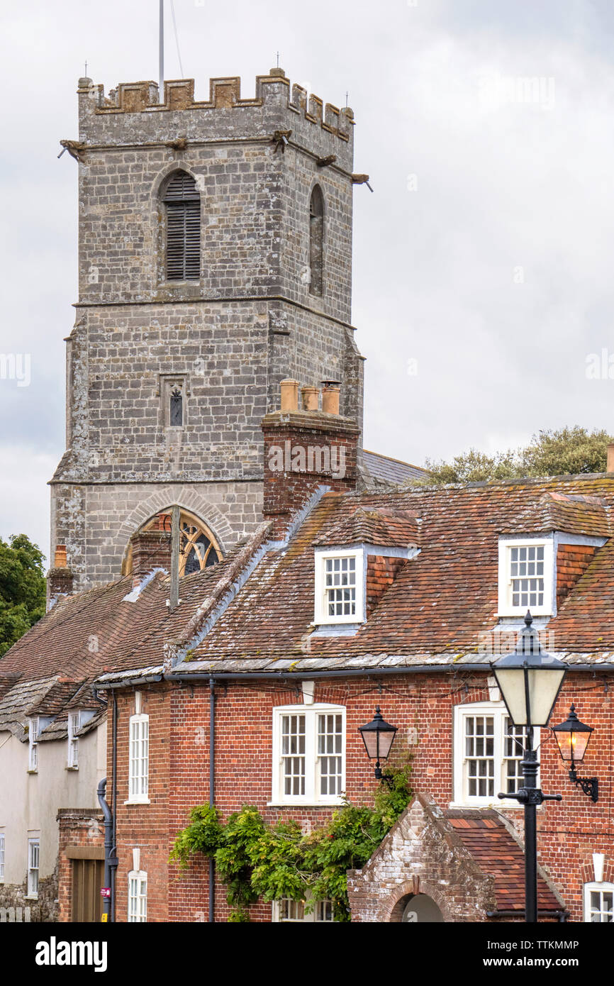 Lady St. Mary Church in historic Wareham, Dorset, England, UK Stock Photo