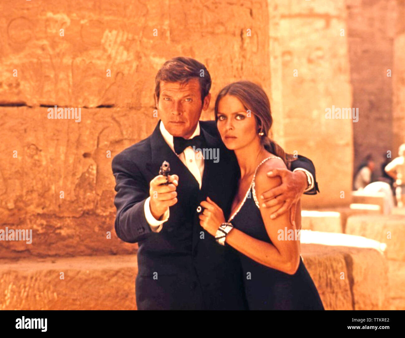 THE SPY WHO LOVED ME 1977 Eon Films production with Roger Moore and Barbara Bach - Stock Image
