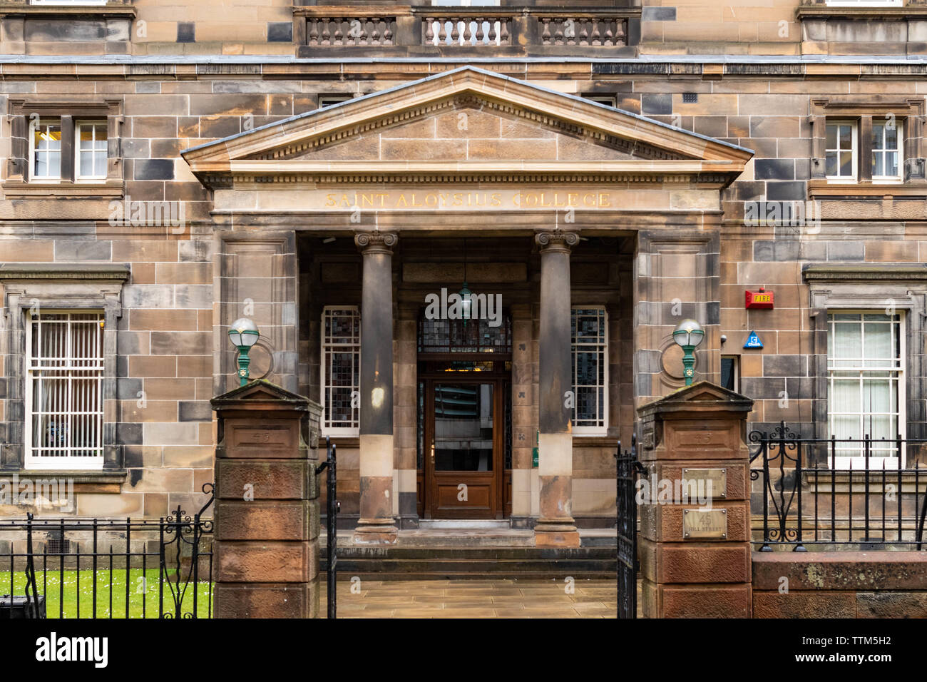 St Aloysius College, a Jesuit Private School in Glasgow, Scotland, UK - Stock Image