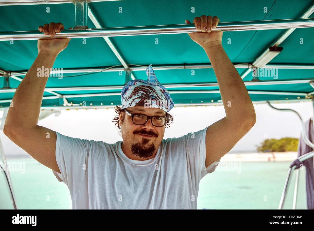 BELIZE, Punta Gorda, Toledo, guests can go Snorkeling with the Chef, they'lltake a guided day cruise to the Gulf of Honduras where they'll be able to - Stock Image