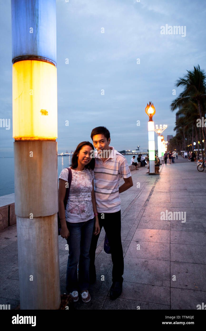 PHILIPPINES, Manila, Rojas Blvd Bay Walk - Stock Image