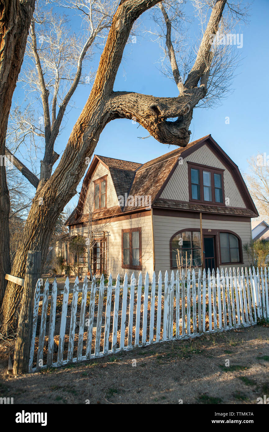 USA, California, Mammoth, Mary Austin an American Writer's longtime home in Independence - Stock Image