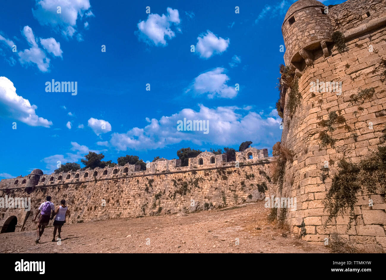 Greece Crete Island -  citadel of the city of Rethymno - Fortress Stock Photo