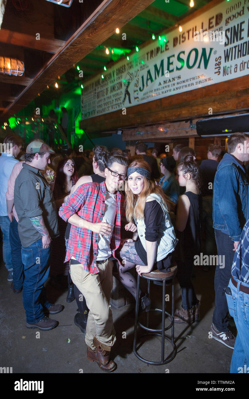 CANADA, Vancouver, British Columbia, people party at a club called The Portside Pub in Gastown - Stock Image