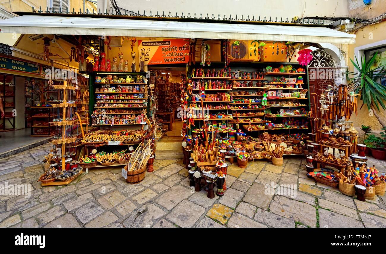 Greek Tourist Shop Stock Photos & Greek Tourist Shop Stock Images