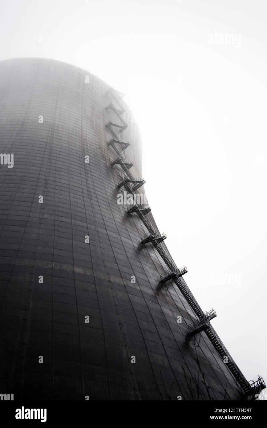 Low angle view of nuclear reactor - Stock Image