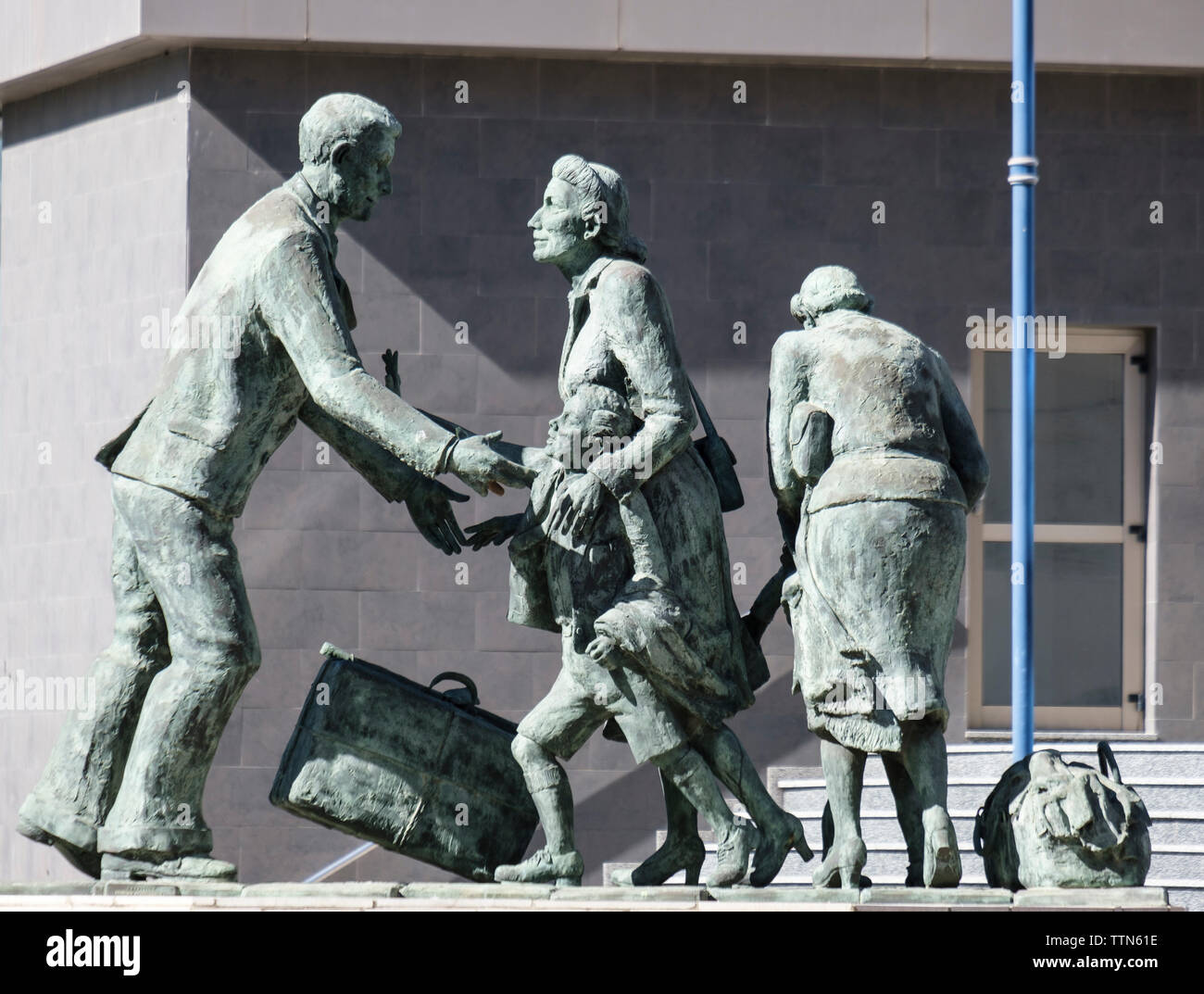 Evacuation of Gibraltarians monument - Stock Image