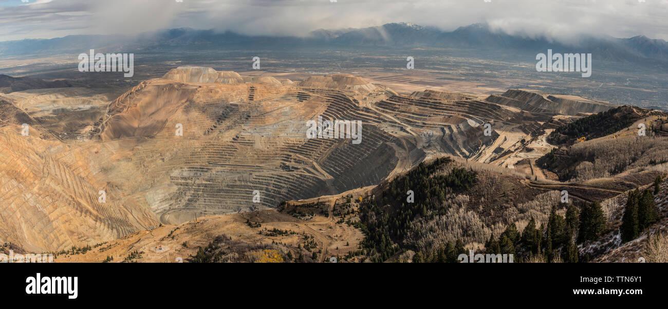High angle view of Bingham Canyon mine Stock Photo