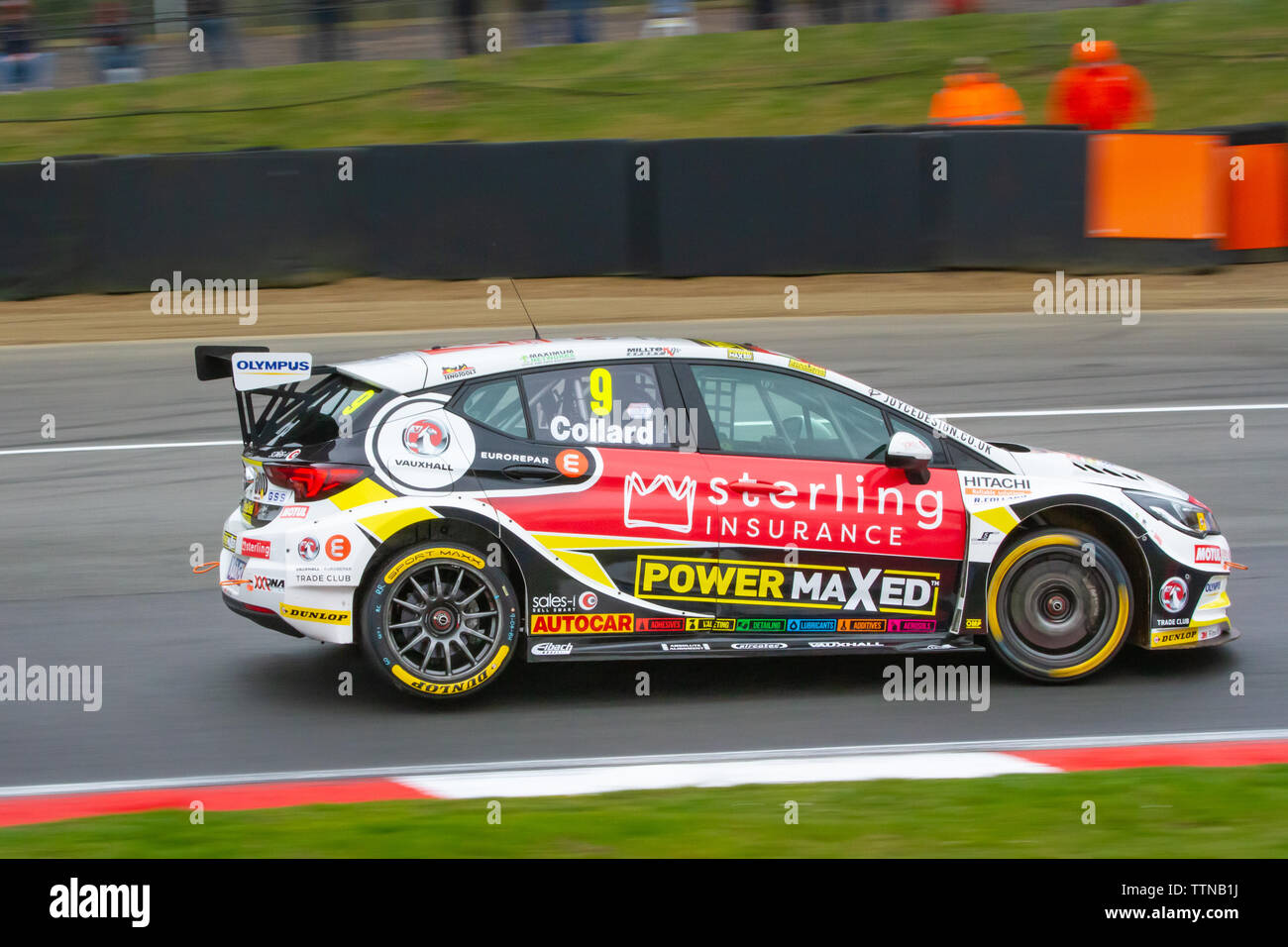 Vauxhall Astra on track, British Touring Car Championship (BTCC), Brands Hatch, first race weekend of the season, April 2019 - Stock Image