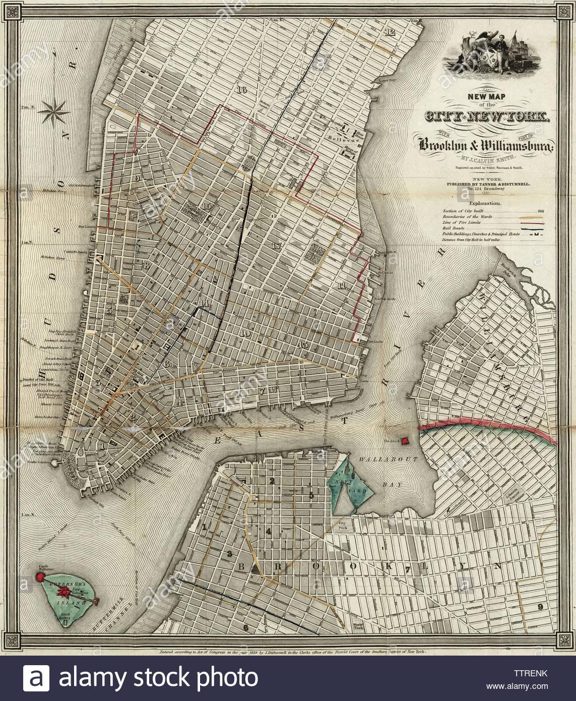 Ny Subway Map Lower Manhattanbrooklyn.Manhattan Map Stock Photos Manhattan Map Stock Images Alamy