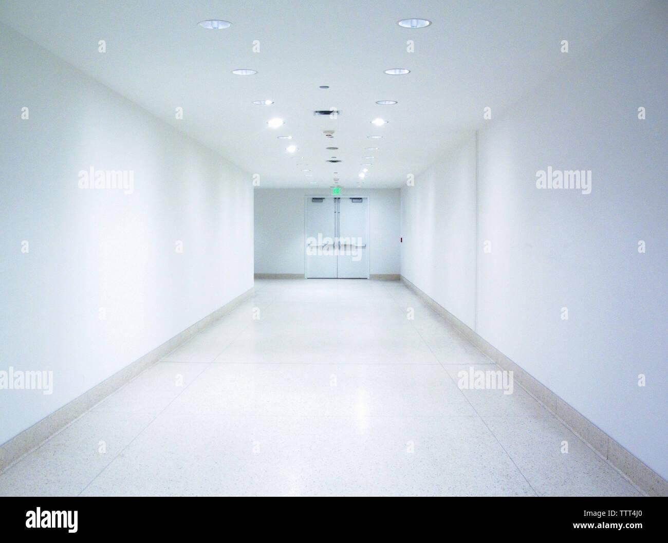 Interior of empty corridor - Stock Image