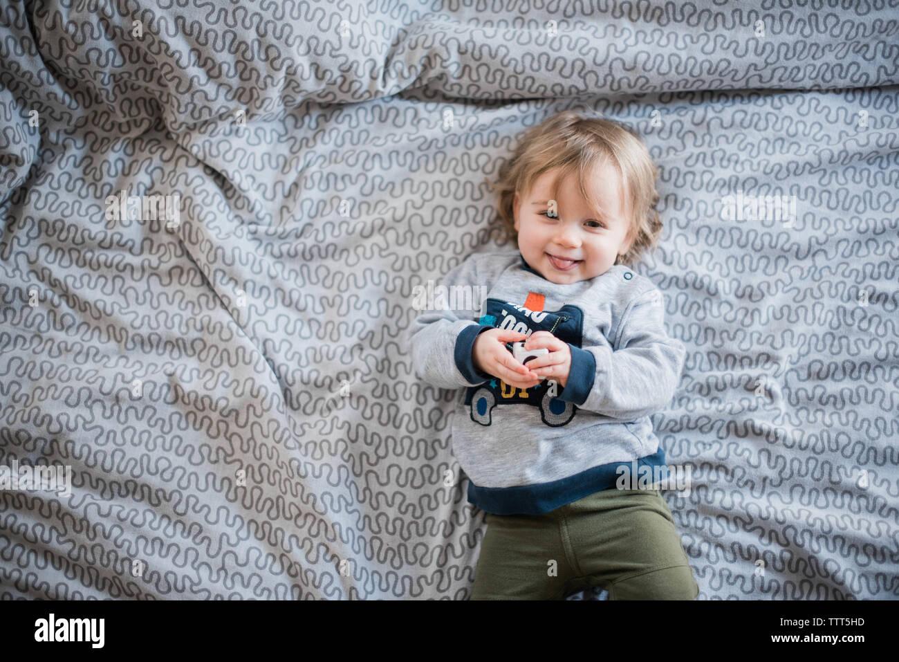 little girl cracking up. Stock Photo