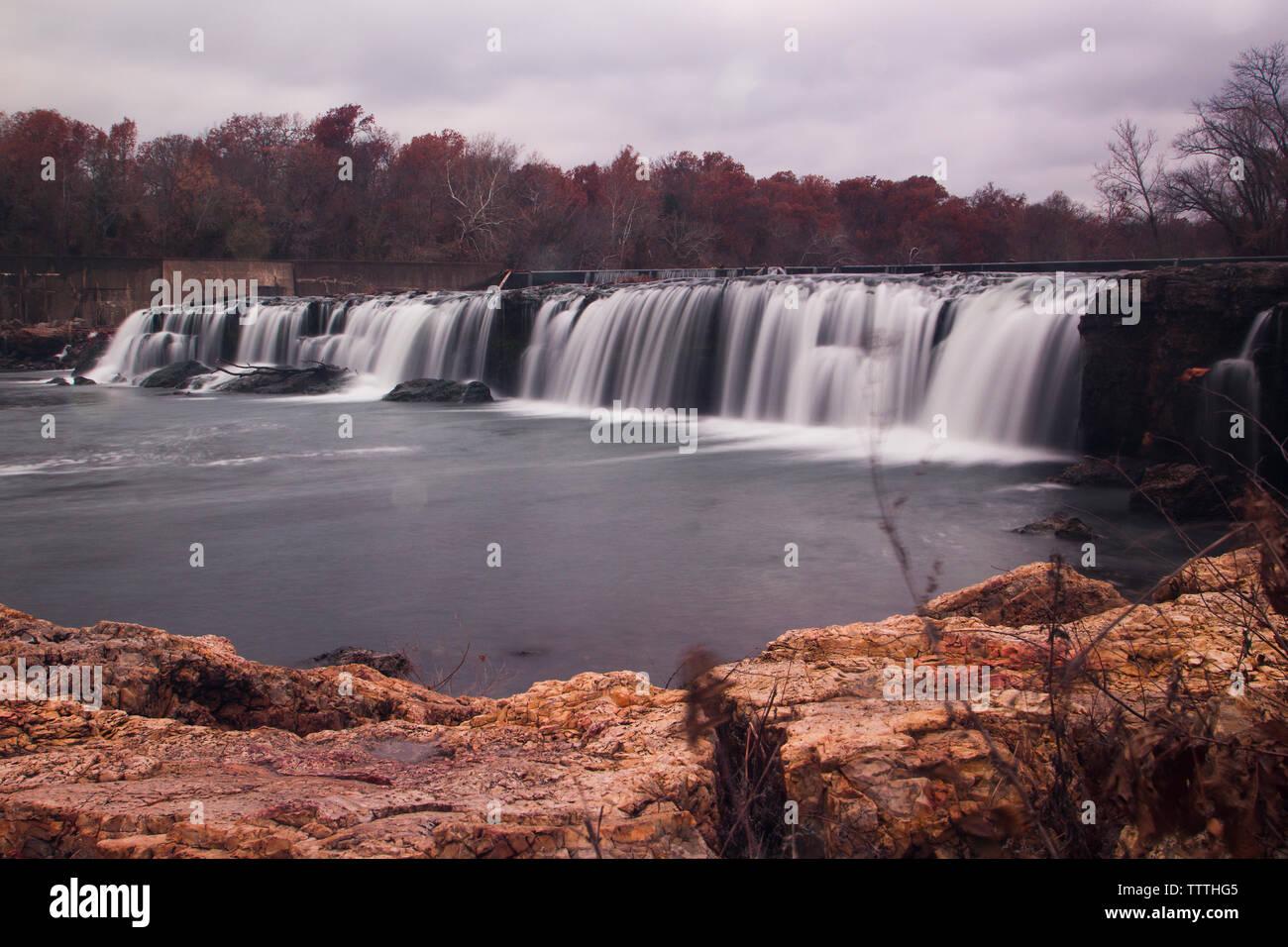 Grand Falls in Autumn, Joplin, Missouri Stock Photo