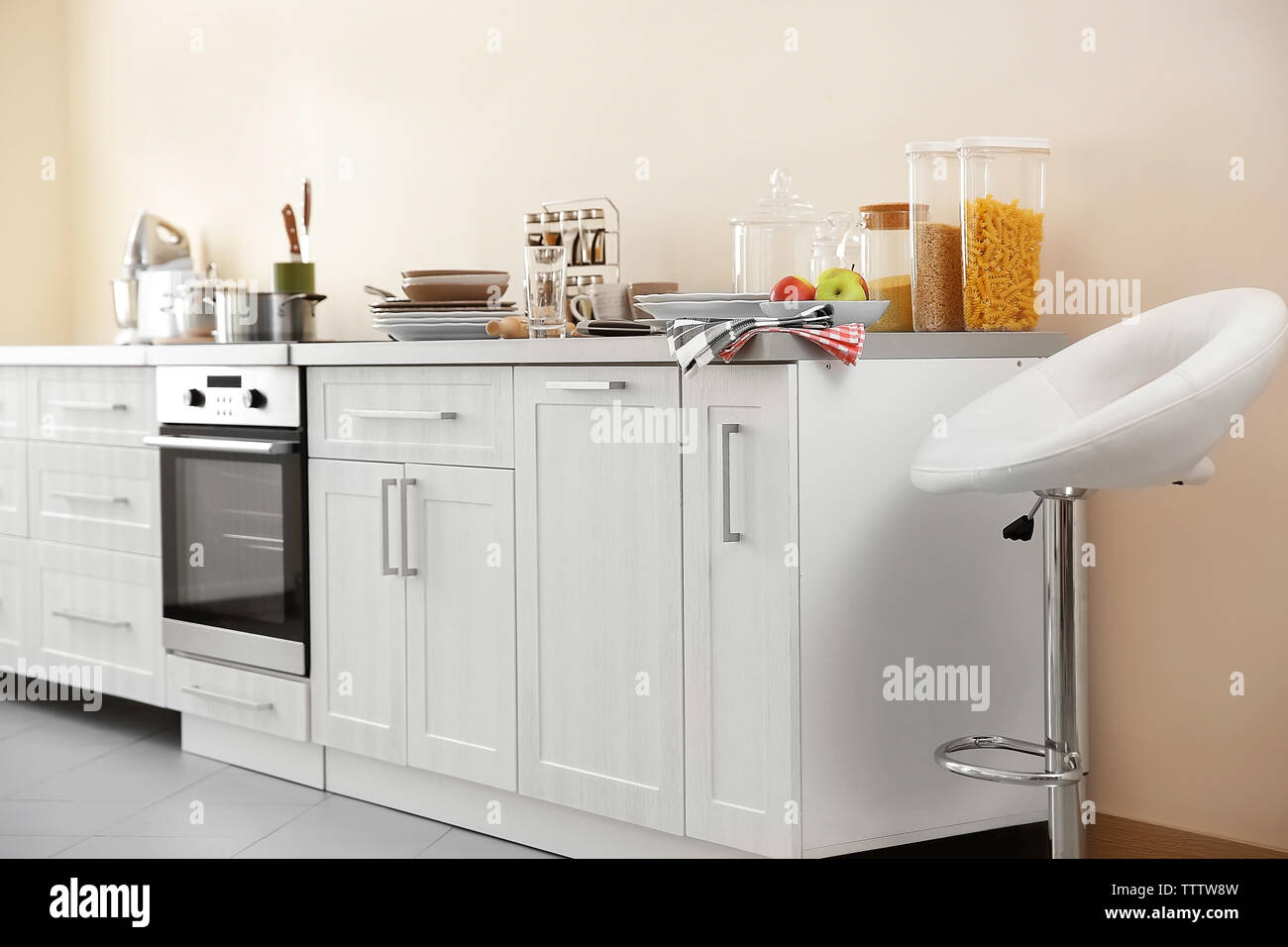 Modern kitchen interior - Stock Image