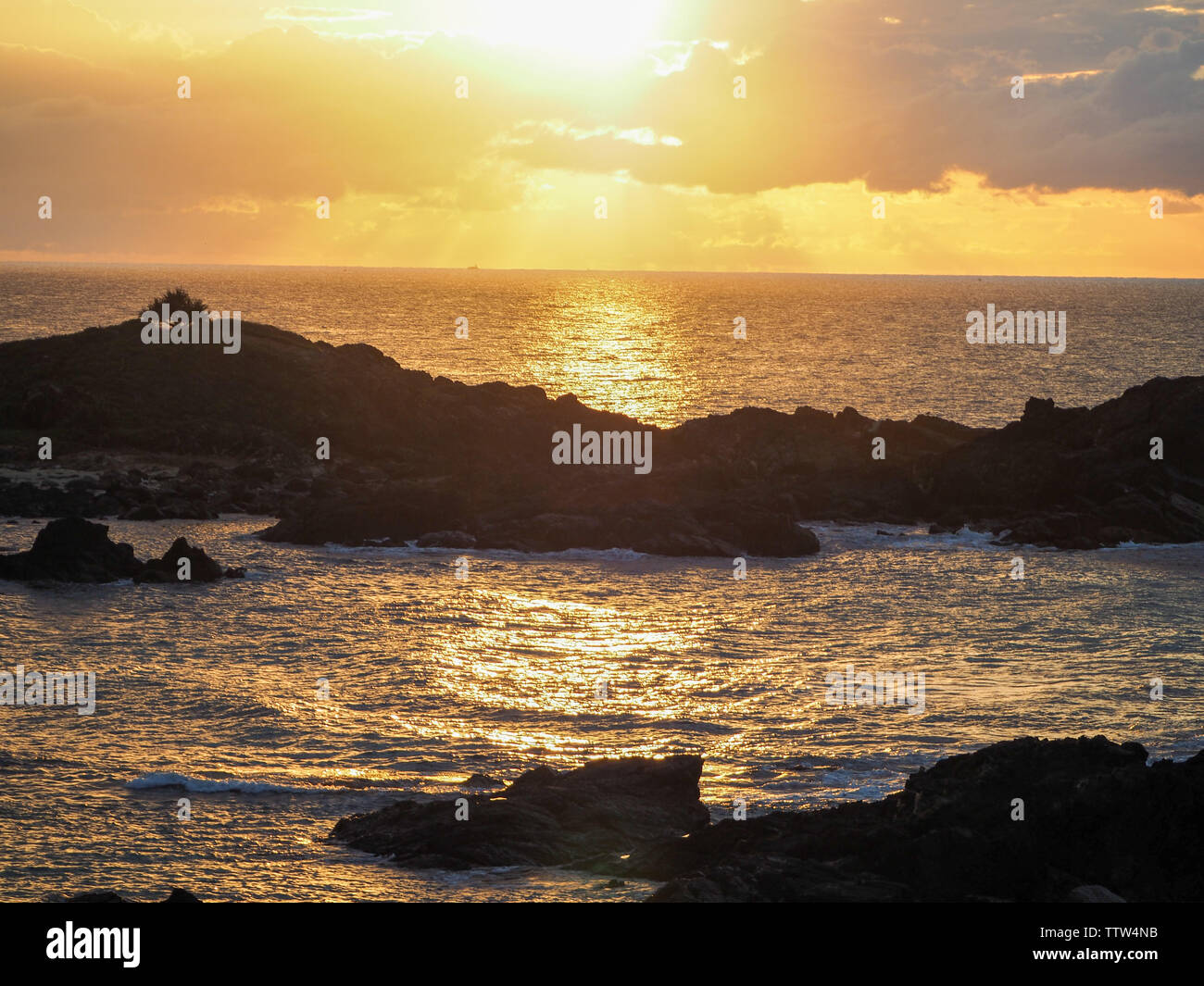 Glorious Sawtell Sunrise over the Pacific Ocean, Australia - Stock Image