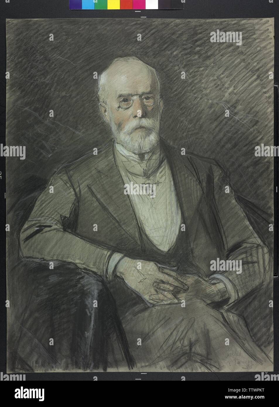 pollack von Parnegg, Leopold Baron, pastel by Julius Schmid, Additional-Rights-Clearance-Info-Not-Available - Stock Image