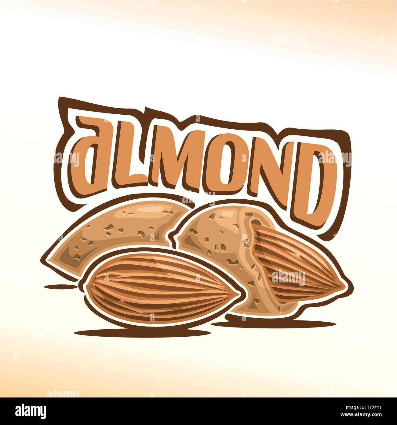 Vector logo for almond - Stock Vector