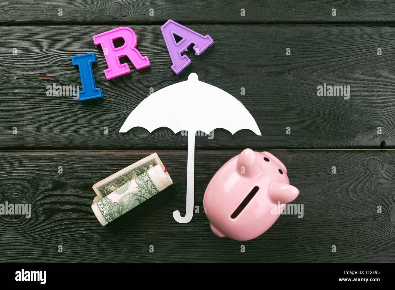 Pension concept.Retirement plans. Stock Photo
